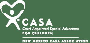 White Logo for New Mexico CASA Association