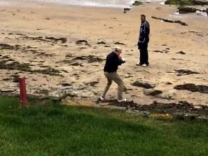 Paul Monahan on beach at N Berwick