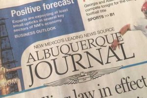 ABQ Journal newspaper cover