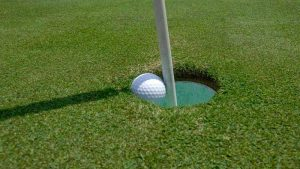 Golf ball in hole