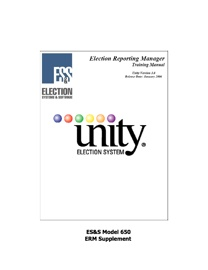NMelections: ES&S Unity Software Manual