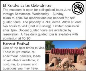 El Rancho de los Golondrinas Hours