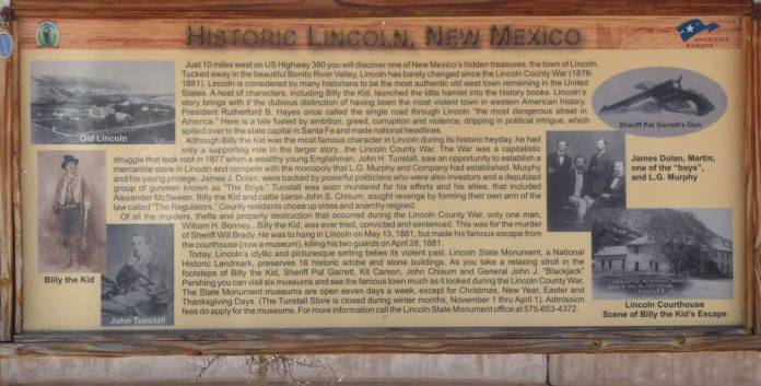 Sign about Lincoln