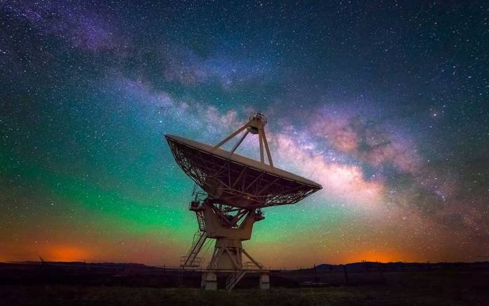 Milky Way over the VLA