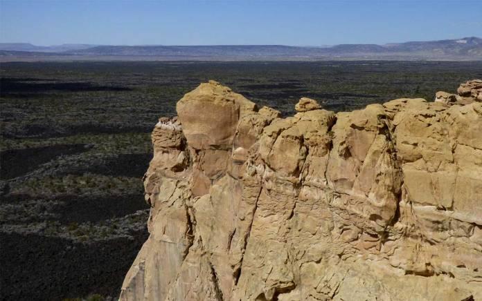 El Malpais National Monument from the sandstone cliffs