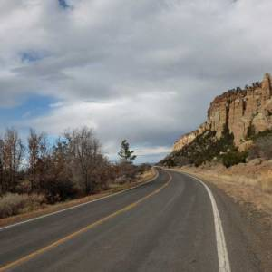 Road by La Ventana natural arch
