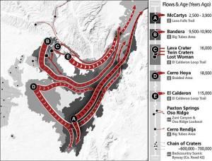 El Malpais map of lava flows
