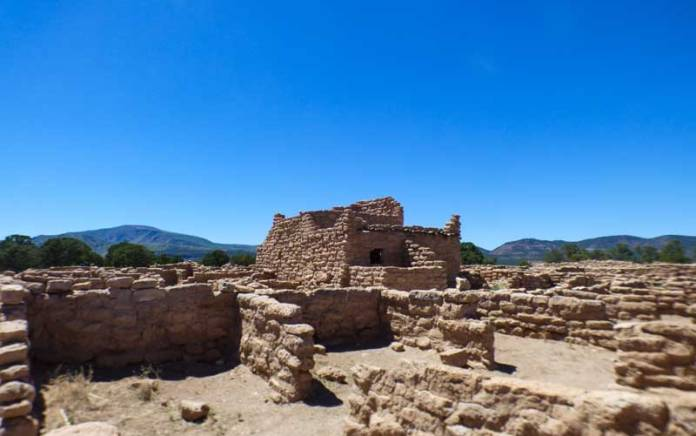 mesa top pueblo dwelling at Puye