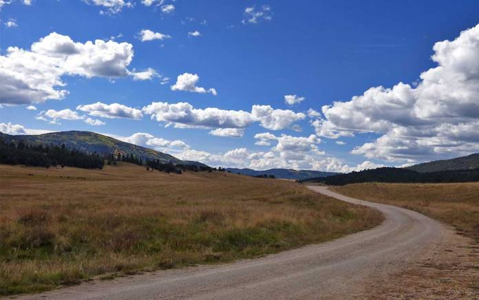 Road through the Valles Caldera