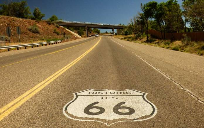 Old Route 66 to the Highway 14 turnoff