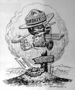 Smokey Bear illustration