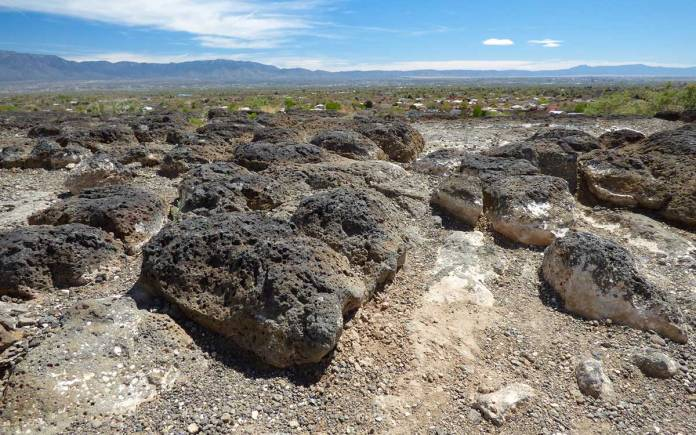 Volcanic landscape at Petroglyph National Monument