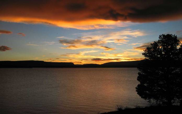 Heron Lake sunset