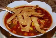 green chile chicken tortilla soup