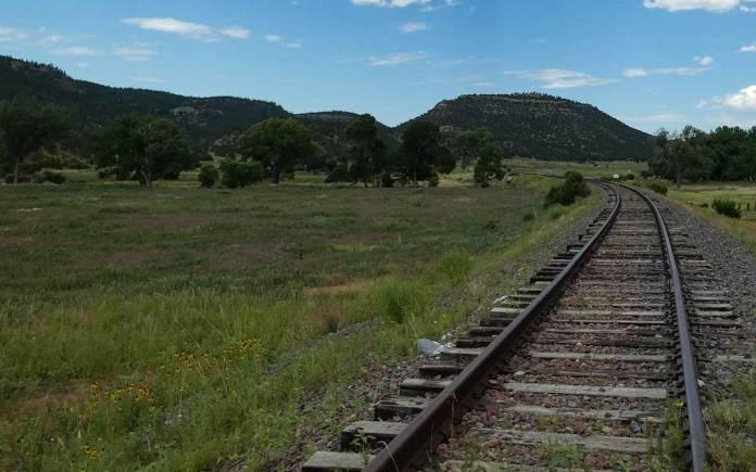 Dawson railroad tracks