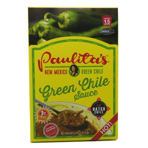 Paulitas hot green chile sauce