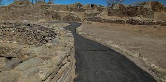 Path through Aztec Ruins