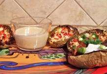 loaded green chile potato skins