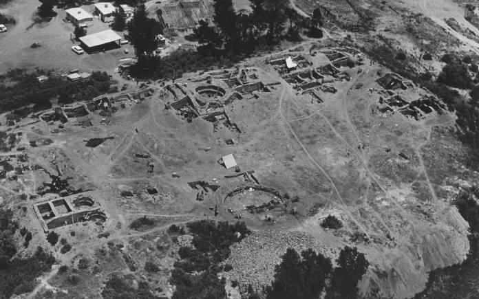 Salmon Ruins aerial shot