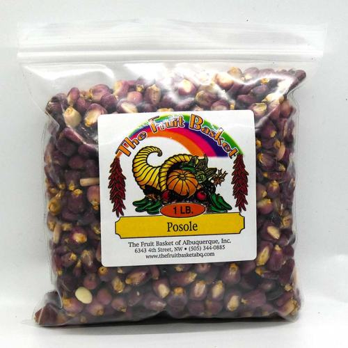 1-pound bag of red corn posole