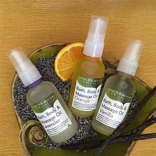 Janecka Bath, Body & Massage Oil
