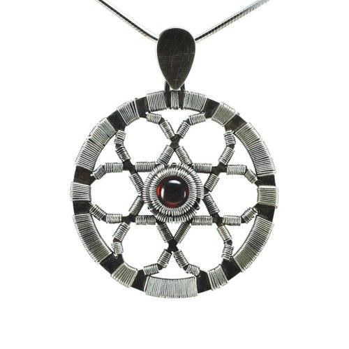Jack Boglioli garnet geometric pendant