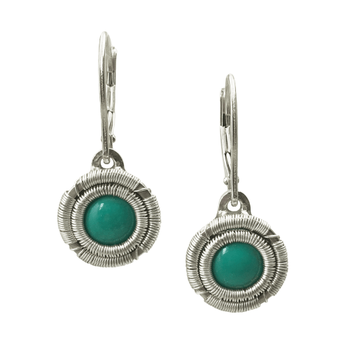 Jack Boglioli simply unique collection turquoise earrings