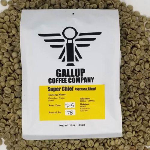 Gallup Coffee Company super chief coffee espresso blend