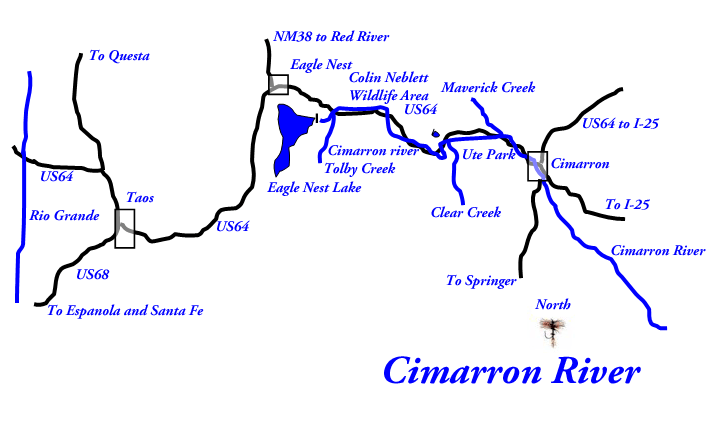Cimarron river new mexico trout for Colorado fly fishing map