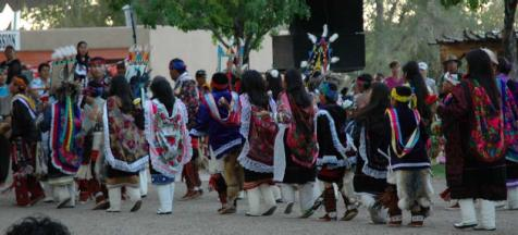 At the Indian Village, Zuni dancers were the early evening highlight. There were about 40 dancers from Zuni Pueblo in all; ages 3 to 71.