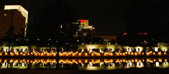 OKC Memorial at Night 2008