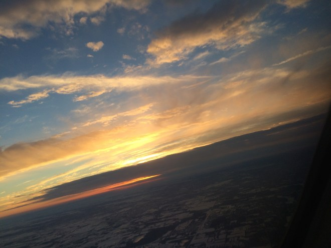Sunset Camera Straight Airplane Turning February 10, 2015 iPhone 5s
