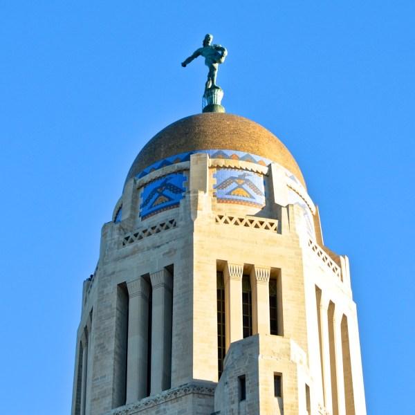 The Sower, Nebraska State Capitol, Lincoln (Built 1922-1932) October 14, 2014 Click for larger version.