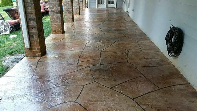 cleaning stained concrete floors with