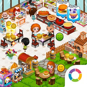 Cafeland world kitchen mod apk download v 1 7 3 cash coins for Kitchen queen mod apk