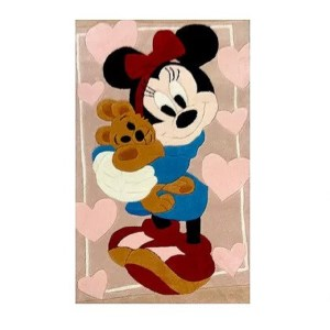 Χειροποίητο Χαλί Disney Minnie Mouse with Teddy Bear (80x140cm) DH017B