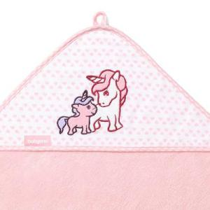 Πετσέτα από Μπαμπού με κουκούλα Ροζ 100×100 BabyOno
