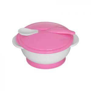 Lorelli Bertoni Σετ Μπόλ Φαγητού Με Κουταλάκι Pink
