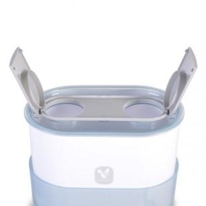 Ηλεκτρικός Αποστειρωτής Μπιμπερό Cangaroo 3 in 1 Grey(ΔΩΡΟ Βούρτσα Καθαρισμού Μπιμπερό)