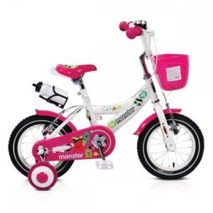 """Παιδικό Ποδήλατο 12"""" Monster 1281 Pink Moni"""