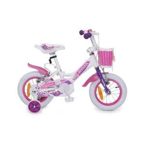 """Παιδικό Ποδήλατο 12"""" Princess White Byox"""