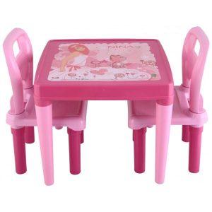 Παιδικό Τραπεζάκι με 2 Καρέκλες Hobby Study Table Pink 03414 Pilsan