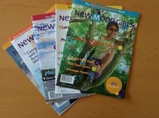 five copies new moon girls magazine