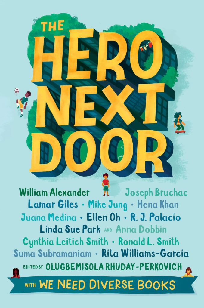 Book cover for The Hero Next Door by Olugbemisola Rhuday-Perkovich