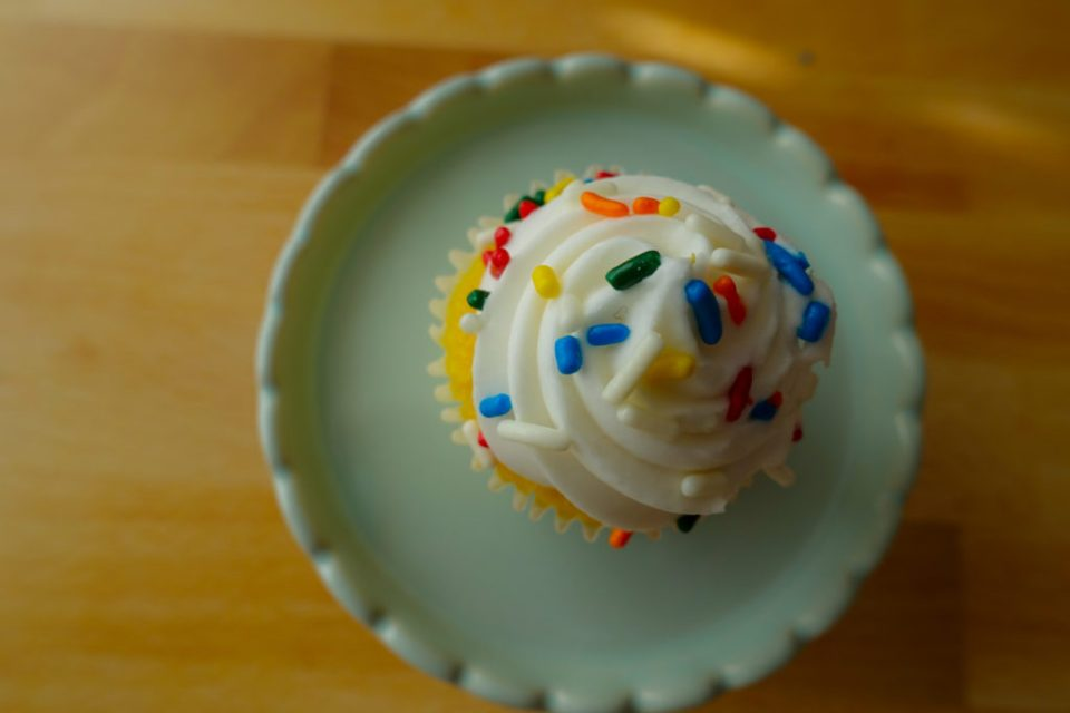 Miniature cupcake shows progress not perfection in diet