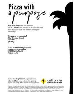 Playground fundraiser May 22 at California Pizza Kitchen | New ...