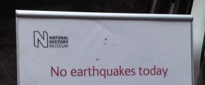 No Earthquakes Today