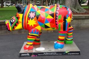 Coloured Rhino