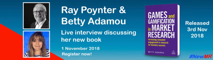 Ray Poynter interviews Betty Adamou graphic