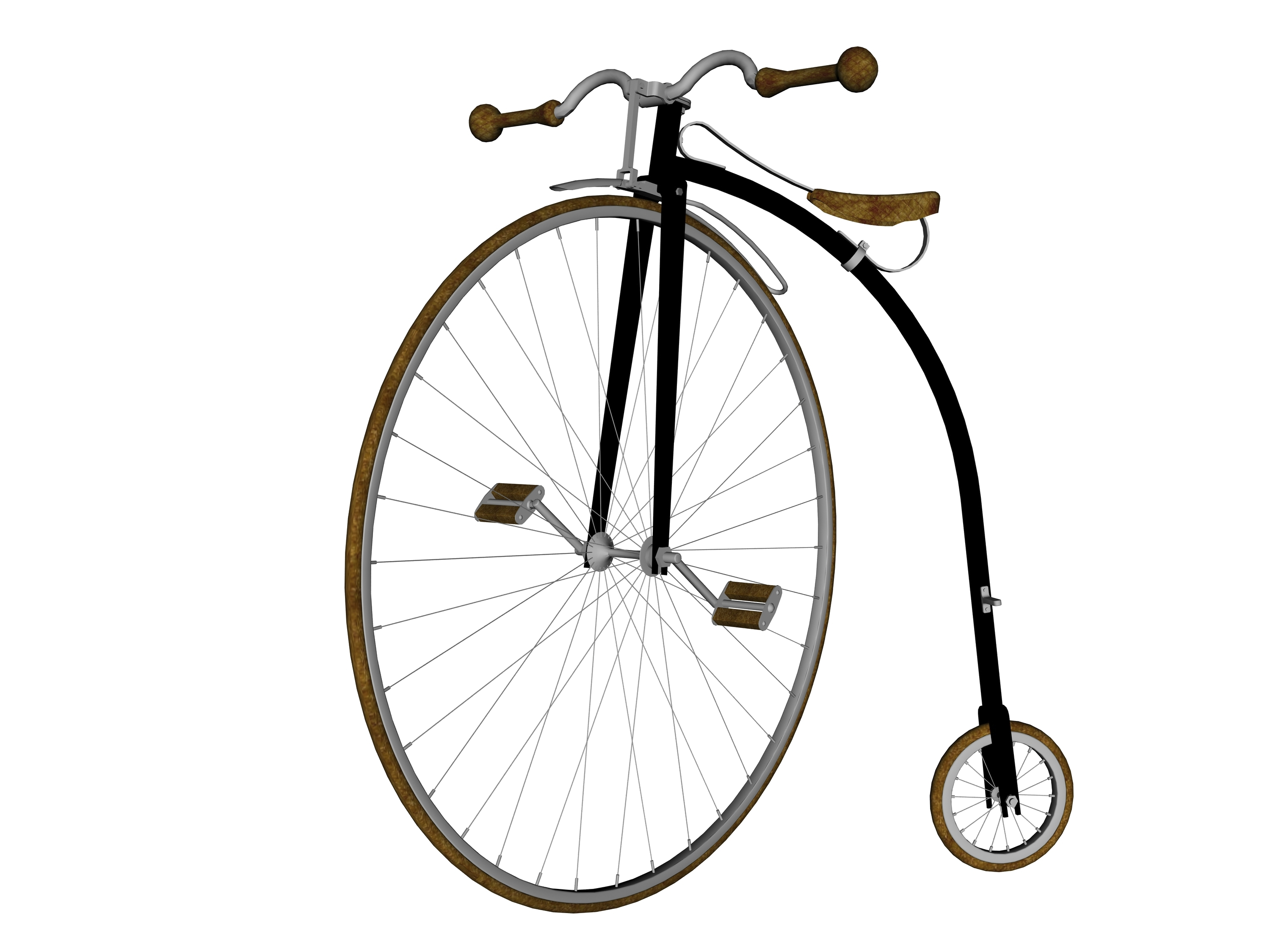 Why did the penny-farthing have a large front wheel